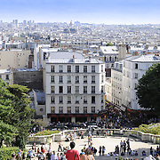Cityscape of Montmartre district, Paris
