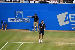 June 23, 2017 - London, United Kingdom - Marin Cilic of Croatia beats Donald Young of the US in the quarter finals of AEGON Championships at Queen's Club, London, on June 23, 2017. (Credit Image: © Alberto Pezzali/NurPhoto via ZUMA Press)