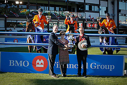 Team Netherlands : chef d'equipe Ehrens Rob, Smolders Harry, Zoer Albert, Houtzager Marc, Hoorn Angelique (not in picture)<br /> BMO Nations Cup<br /> Spruce Meadows Masters - Calgary 2009<br /> © Dirk Caremans