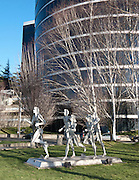 """""""Runners"""" by David Govedare 1986 (davidgovedare.com), just south of the P-I building on Elliott Avenue West, Seattle, Washington"""