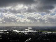 Nederland, Zuid-Holland, Zwijndrecht, 25-02-2020; zicht op havengebied Dordrecht, met Oude Maas, voorgrond en rechts, en Krabbepolder, Krabbegors. Naar de horizon de Dordtsche Kil, aan de horizon het Hollandsch Diep.<br /> View of Dordrecht harbor area, with Oude Maas and Dordtsche Kil, on the horizon the Hollandsch Diep.<br /> <br /> luchtfoto (toeslag op standard tarieven);<br /> aerial photo (additional fee required)<br /> copyright © 2020 foto/photo Siebe Swart