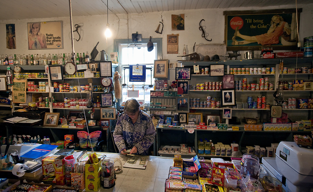 """At the end of the business day Beverly LeNoir counts the money from the register. """"I didn't appreciate this store when I was a child. But now I think it's the most wonderful place in the world. If I can, I will work here until the day I die."""""""