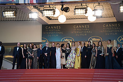 Didar Domehri, Golshifteh Farahani,r Eva Husson, Emmanuelle Bercot and members of the cast attending the premiere of the film Les Filles du Soleil during the 71st Cannes Film Festival in Cannes, France on May 12, 2018. Photo by Julien Zannoni/APS-Medias/ABACAPRESS.COM
