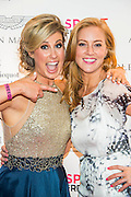 Julia Immonen, the charity organiser, and Sarah-Jane Mee, Sky Sports - UK charity, Sport for Freedom (SFF), marks Anti-Slavery Day 2015 by hosting a charity Gala Dinner, supported by Aston Martin, on Thursday 15th October at Stamford Bridge, home of Chelsea Football Club. This inaugural event brought together people from the world of sport, entertainment, media, and business to unite behind a promise to tackle the issue of modern day human trafficking and slavery.  <br /> Hosted by Sky presenters Sarah-Jane Mee and Jim White, the Sport for Freedom Gala Dinner includes guests such as jockey AP McCoy OBE; Denise Lewis, former British Olympic Gold Medal winner; BBC Strictly star, Brendan Cole; Al Bangura, former Watford FC player and Sport for Freedom Ambassador who was trafficked from Africa to the UK at the age of just 14yrs old; Made in Chelsea star, Ollie Proudlock; ITV weather presenter, Lucy Verasamy; Sky Sports F1 presenter and SFF Ambassador, Natalie Pinkham; Premier League footballers Ryan Bertrand of Southampton FC and Troy Deeney of Watford FC and champion boxer, Anthony Joshua; and The UK's first independent Anti Slavery Commissioner, Kevin Hyland OBE, who highlighted the issues of modern day slavery that face the UK and world today. <br /> The evening concluded with chart topping music from 'Naughty Boy'. <br /> Sport for Freedom are also joining forces with the Premier League Academies for an international  'Football for Freedom' tournament with their U16's players that will also involve educating those taking part about the issues surrounding modern day slavery. The final will take place at Liverpool FC's Academy on Anti-Slavery Day, 18th October.