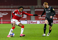 Middlesbrough's Djed Spence battles with Rotherham United's Shaun MacDonald<br /> <br /> Photographer Alex Dodd/CameraSport<br /> <br /> The EFL Sky Bet Championship - Middlesbrough v Rotherham United - Wednesday 27th January 2021 - Riverside Stadium - Middlesbrough<br /> <br /> World Copyright © 2021 CameraSport. All rights reserved. 43 Linden Ave. Countesthorpe. Leicester. England. LE8 5PG - Tel: +44 (0) 116 277 4147 - admin@camerasport.com - www.camerasport.com