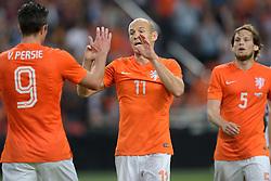 04-06-2014 NED: Vriendschappelijk Nederland - Wales, Amsterdam<br /> Nederland wint met 2-0 van Wales / Arjen Robben scoort de 1-0 en Robin van Persie