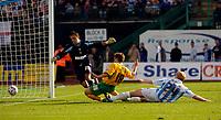 Photo: Alan Crowhurst.<br />Brighton & Hove Albion v Norwich City. Coca Cola Championship. 01/10/2005. Paul McVeigh score the second goal for Norwich.