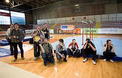 "Photographers at event ""Slovenian Gymnastics stars"" after the European Championships in Milano, on April 6, 2009, in Hall Slovan, Kodeljevo, Ljubljana, Slovenia. (Photo by Vid Ponikvar / Sportida)"