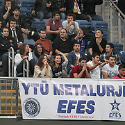 Anadolu Efes's supporters during their Turkish Airlines Euroleague Basketball Group C Game 6 match Anadolu Efes between Partizan at Sinan Erdem Arena in Istanbul, Turkey, Wednesday, November 23, 2011. Photo by TURKPIX