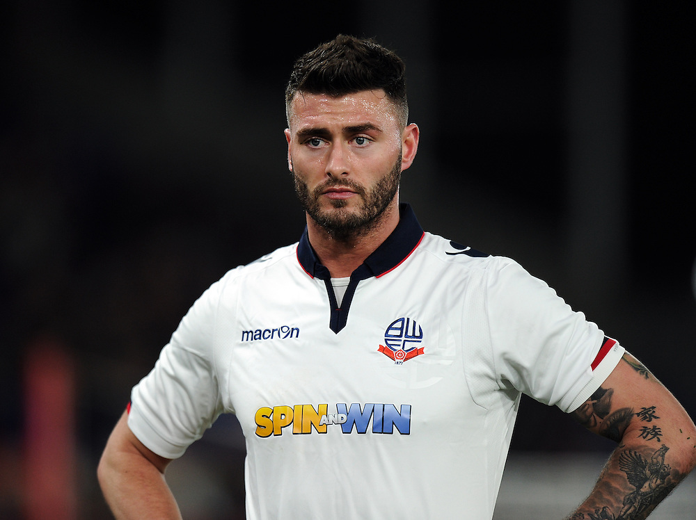 Bolton Wanderers' Gary Madine<br /> <br /> Photographer Ashley Western/CameraSport<br /> <br /> Emirates FA Cup Third Round Replay - Crystal Palace v Bolton Wanderers - Tuesday 17th January 2017 - Selhurst Park - London<br />  <br /> World Copyright © 2017 CameraSport. All rights reserved. 43 Linden Ave. Countesthorpe. Leicester. England. LE8 5PG - Tel: +44 (0) 116 277 4147 - admin@camerasport.com - www.camerasport.com