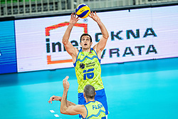 Ropret Gregor of Slovenia passing ball during friendly volleyball match between Slovenia and Serbia in Arena Stozice on 2nd of September, 2019, Ljubljana, Slovenia. Photo by Grega Valancic / Sportida