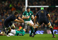 Rugby Union - 2017 Guinness Series (Autumn Internationals) - Ireland vs. Argentina<br /> <br /> Ireland's Sean O'Brien in action against Argentina's Matias Alemanno and Tomas Lezana, at the Aviva Stadium.<br /> <br /> COLORSPORT/KEN SUTTON