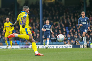 AFC Wimbledon attacker Michael Folivi (41) about to volley the ball during the EFL Sky Bet League 1 match between Southend United and AFC Wimbledon at Roots Hall, Southend, England on 16 March 2019.