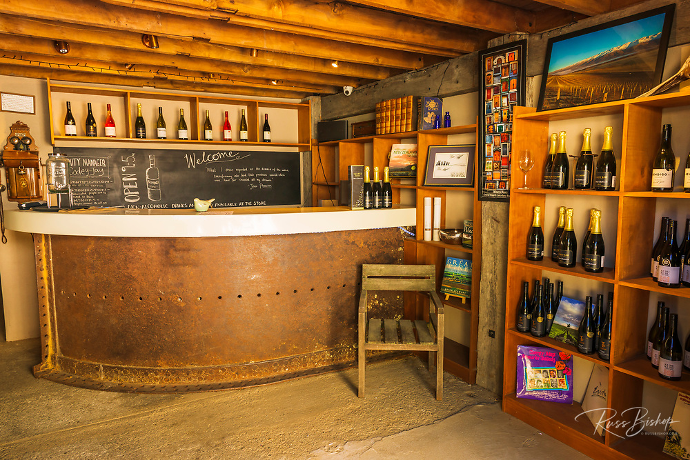 The tasting room at Tarras Country Store, Otago, South Island, New Zealand