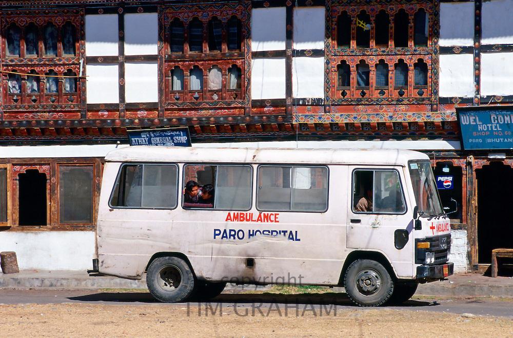 Ambulance in Bhutan.
