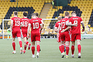 GOAL 0-1 Aberdeen's Callum Hendry (9) scores a goal 0-1 and celebrates, celebration during the Scottish Premiership match between Livingston and Aberdeen at Tony Macaroni Arena, Livingstone, Scotland on 1 May 2021.