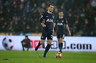 Christian Eriksen of Tottenham Hotspur in action.Premier league match, Swansea city v Tottenham Hotspur at the Liberty Stadium in Swansea, South Wales on Tuesday 2nd January 2018. <br /> pic by  Andrew Orchard, Andrew Orchard sports photography.