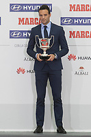 Borja Viguera receives the 2nd Division Pichichi award during the MARCA Football Awards ceremony in Madrid, Spain. November 10, 2014. (ALTERPHOTOS/Victor Blanco)