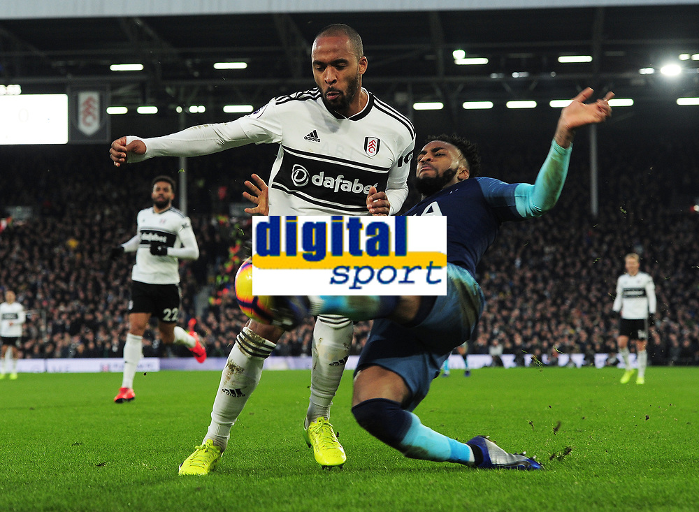 Football - 2018 / 2019 Premier League - Fulham vs. Tottenham Hotspur<br /> <br /> Denis Odoi of Fulham and Danny Rose of Spurs, at Craven Cottage.<br /> <br /> COLORSPORT/ANDREW COWIE