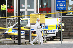 © Licensed to London News Pictures. 11/10/2019. Manchester, UK. Police are responding to reports of multiple stabbings at the Arndale Centre in Manchester City Centre. Photo credit: Joel Goodman/LNP