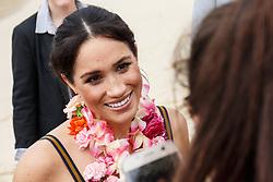 AU_1373516 - Sydney, AUSTRALIA  - The Duke and Duchess of Sussex visit Bondi Beach<br /> <br /> Pictured: Prince Harry and Meghan Markle<br /> <br /> BACKGRID Australia 19 OCTOBER 2018 <br /> <br /> BYLINE MUST READ: Brandon Voight / BACKGRID<br /> <br /> Phone: + 61 2 8719 0598<br /> Email:  photos@backgrid.com.au