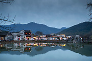 Ancient Chinese style architecture and houses in Hongcun village, UNESCO World Heritage Site, Anhui Province, China