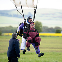 80 Year Olds Charity Parachute Jump