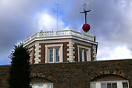 Royal Observatory is the site of the Greenwich meridian line.<br /><br /> Photo by Dennis Brack