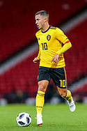 Eden Hazard (#10) of Belgium in action during the International Friendly match between Scotland and Belgium at Hampden Park, Glasgow, United Kingdom on 7 September 2018.