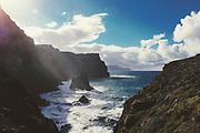View of the wild coast of the island Madeira, near Ponta de Sao Lourenco<br /> Redbubble --> https://www.redbubble.com/shop/ap/91976707