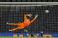 Scotland goalkeeper Allan McGregor (1) (Rangers) is beaten by the shot from Beram Kayal (21) (Brighton and Hove Albion)of Israel 0-1   during the UEFA Nations League match between Scotland and Israel at Hampden Park, Glasgow, United Kingdom on 20 November 2018.
