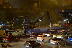 @Licensed to London News Pictures 29/11/2014. Dartford Crossing, South Orbital Road, Dartford, Kent. The first phase of barrier removals start in the early hours of today 29/11/2014. Payment booths at the Dartford Crossing will be removed and replaced with a remote charging system known as Dart Charge. Photo credit: Manu Palomeque/LNP