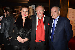 Left to right, Susan Neil, Andrew Neil, Alistair Stewart at the Costa Book of The Year Awards held at Quaglino's, 16 Bury Street, London England. 31 January 2017.