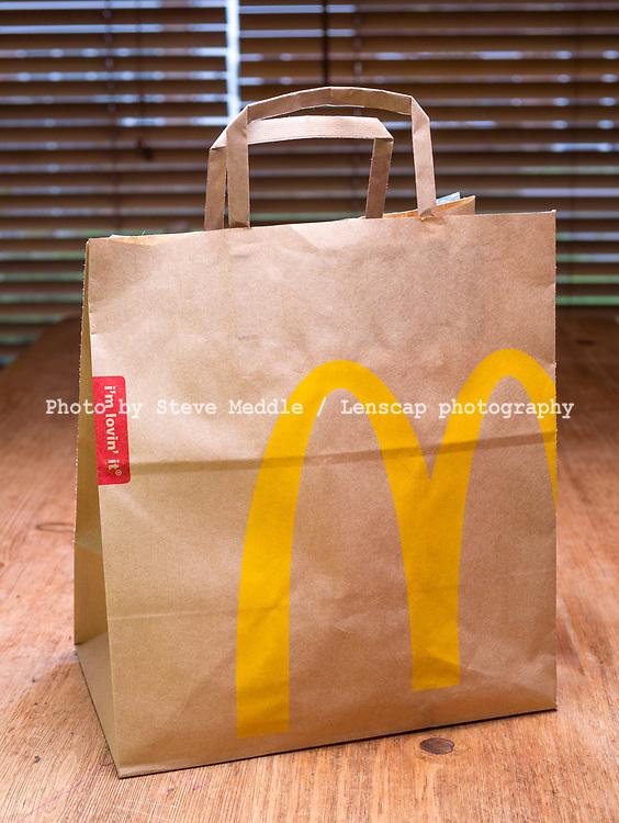 McDonald's Fast Food in a Paper Bag - Jan 2017