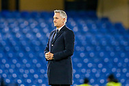 Sports Commentator Gary Lineker does a piece to a BBC helicopter camera before the The FA Cup match between Chelsea and Manchester United at Stamford Bridge, London, England on 18 February 2019.