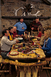 Thanksgiving dinner at country lodge