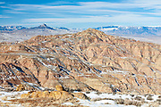 McCullough Peaks during winter in the Bighorn Basin of Wyoming