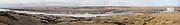 South Dakota SD USA, Panoramic view of the Oahe dam on the Missouri river near Pierre,
