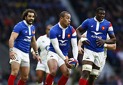 February 10, 2019 - London, England, United Kingdom - Gael Fickou of France.during the Guiness 6 Nations Rugby match between England and France at Twickenham  Stadium on February 10th, 2019 in Twickenham, London, England. (Credit Image: © Action Foto Sport/NurPhoto via ZUMA Press)