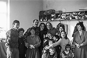 Group photo with refugees from Bosnia in the Varazdin refugee camp in Croatia in the winter of 1992. In the picture volunteer Björn Steinz from Germany, 5th from the left in the back row.