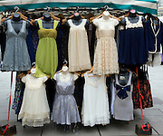 Street display women's clothes, Bath, England