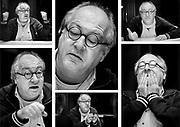 Dutch comedian Youp van 't Hek during an interview in Hoogezand // Cabaretier Youp van 't Hek.