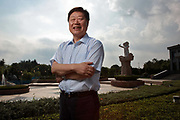 Zhang Ruimin, chief executive officer of Haier Group, poses for photographs out side of the company's head quarters in Qingdao, Shandong Province, China on 25 August 2011.  Haier is one of the largest white goods manufacturer in the world.
