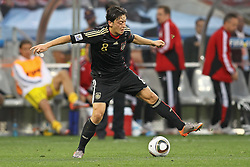 03.07.2010, CAPE TOWN, SOUTH AFRICA, Mesut Oezil of Germany attempts a back heal pass  Match 59 of the 2010 FIFA World Cup, Argentina vs Germany held at the Cape Town Stadium EXPA Pictures © 2010, PhotoCredit: EXPA/ nph/  Kokenge