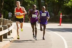UAE Healthy Kidney 10K, leaders Ben True, Stephen Sambu Geoffrey Mutai late in race