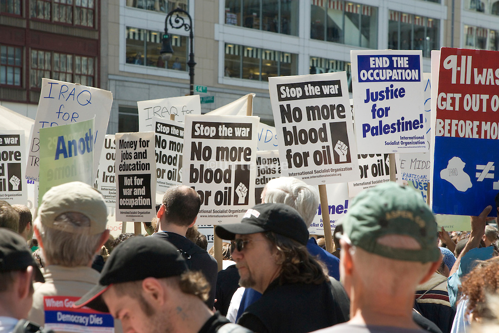 Anti war demonstration New York City April 29 2006
