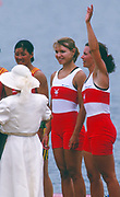 Atlanta, United States of America. Gold Medalist: CAN W2X.  Stroke: Kathleen HEDDLE  and Bow Marnie McBEAN, 1996 Olympic Regatta, Lake Lanier, Gainsville. Georgia. [Mandatory Credit: Peter Spurrier: Intersport Images]