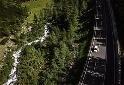 THEMENBILD - ein Auto befährt die Felbertauernstrasse, aufgenommen am 26. Juni 2019 in Mittersill, Oesterreich // a Car drives at the Felbertauernroad# in Mittersill, Austria on 2019/06/26. EXPA Pictures © 2019, PhotoCredit: EXPA/ JFK