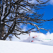 Jim Ryan finds some of the best powder of the season in the backcountry of the Tetons.