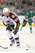 DALLAS, TX - SEPTEMBER 26:  Alex Tanguay #40 of the Colorado Avalanche controls the puck against the Dallas Stars in an NHL preseason game on September 26, 2013 at the American Airlines Center in Dallas, Texas.  (Photo by Cooper Neill/Getty Images) *** Local Caption *** Alex Tanguay